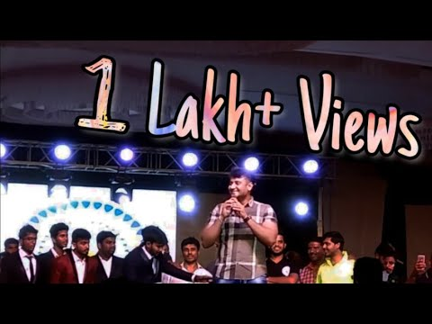 Darshan Speech In Jayciana 2017 || SJCE Mysuru ||