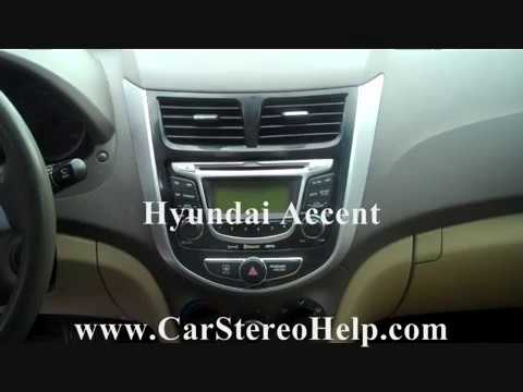 hyundai accent stereo removal youtube