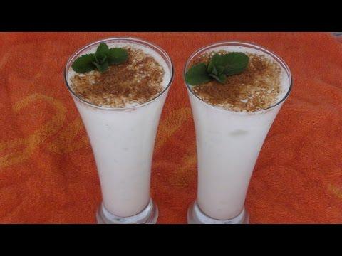 Namkin Lassi/salted Mint(podina) and Ginger Lassi/Lassi Recipe/punjabi namkeen lassi recipe in hindi