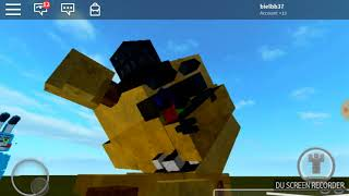 O mistério do Golden freddy No roblox (fnaf 2 roleplay)