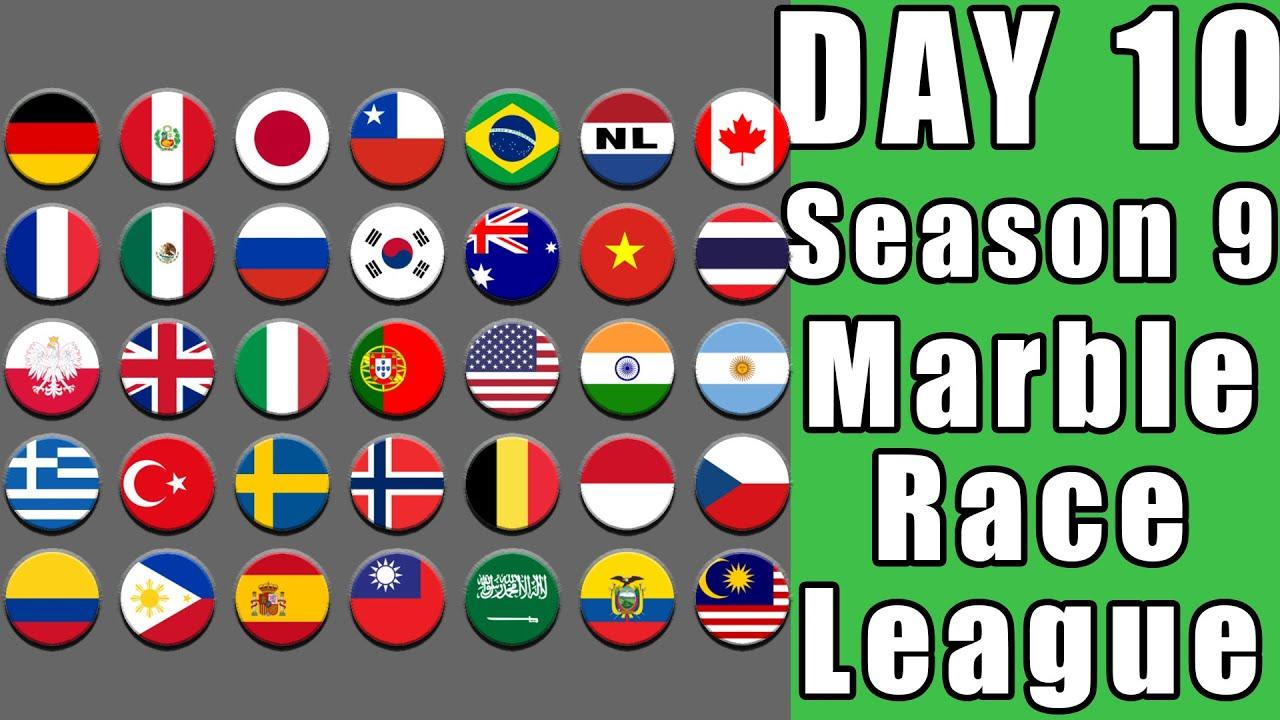 Marble Race League 2020 Season 9 Day 10 Marble Point Race in Algodoo / Marble Race King