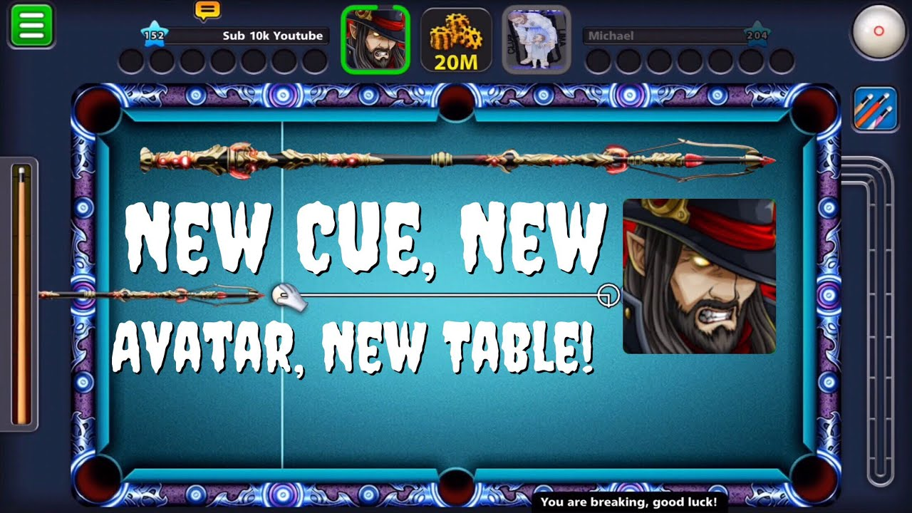 8 ball pool new hunter halloween cue hunter avatar new moonlight 89 ball tables gameplay