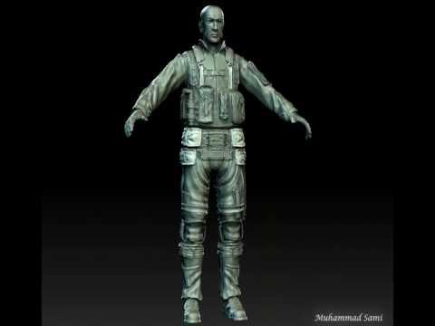 Egyptian fighter pilot 3d sculpt.mov