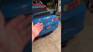 Mk4 Supra Gets New Taillights! #shorts