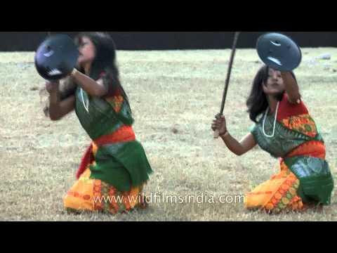 Assamese Bodo dance troupe at Hornbill Festival, Nagaland
