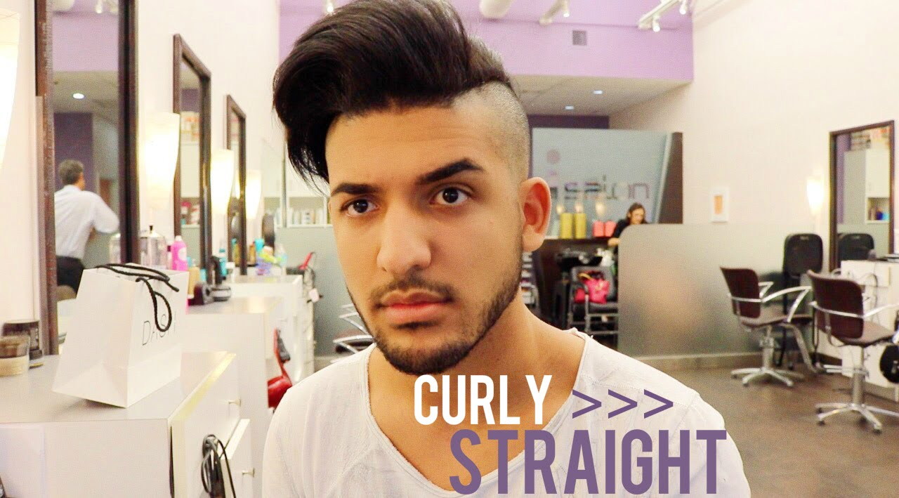 Curly To Straight Men S Keratin Hair Tutorial Youtube