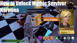 Fortnite Save the World - How to Unlock Mythic Survivor Karolina - How to find Portraits!