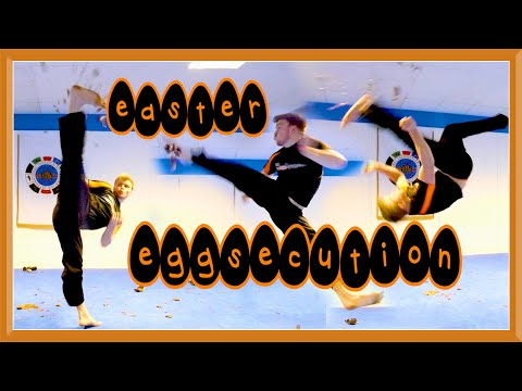 Taekwondo Kicking Eggsecution | GNT Easter Special
