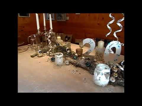 diy tisch deko idee clamor se silvester party silber hochzeit g nstige schnelle deko youtube. Black Bedroom Furniture Sets. Home Design Ideas