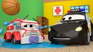 Der Streifenwagen in Autopolis -  Klein Amber wird vermisst - Autopolis 🚒 Cartoons für Kinder 🚓