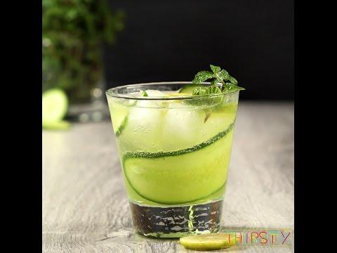 Yummy Cucumber Gin Cooler Cocktail