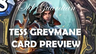 Tess Greymane and Burgle Rogue (Hearthstone The Witchwood card review)