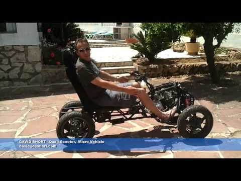 Quad scooter, micro vehicle, narrow vehicle by DC Short