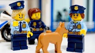 【LEGO遊び】レゴで警察ゴッコ 大変だ!3つの事件が同時に発生!?警察署がピンチだ!【アナケナ&カルちゃん&ママケナのキッズアニメ】LEGO CITY 60141