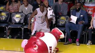 NBA Players VS NBA Mascots - Compilation 2017