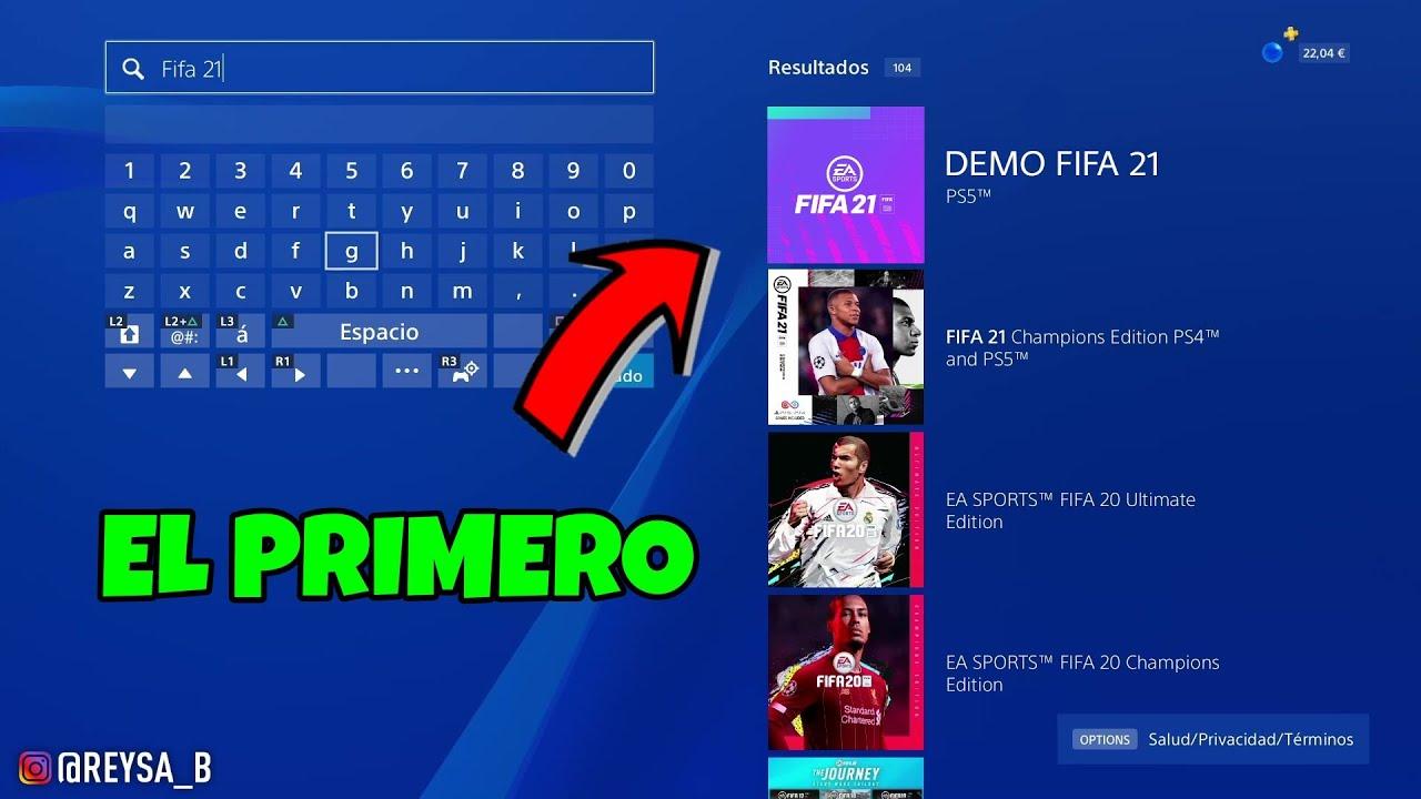 ? MI TRUCO PARA DESCARGAR LA DEMO DE FIFA 21 EL PRIMERO CUANDO SALGA!!!