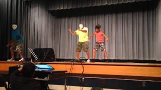 Father daughter son perform together @ student talent show @ Scales Elementary School TN