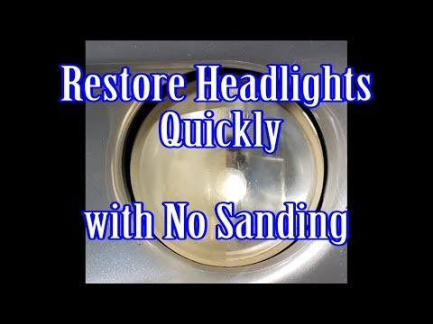 Restore Headlights Quickly with No Sanding - Remove Yellow from Headlights