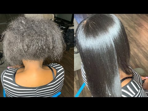 silk-press-natural-hair-tutorial|-her-shrinkage-is-crazy!!!