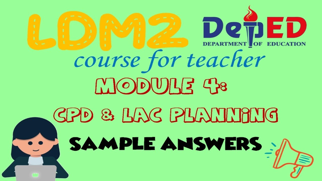 Download ANSWERS IN MODULE 4 of LDM2 Course for Teachers | For Reference | New Normal Education | 2020