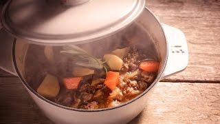 【鑄鐵鍋燉肉🥘】零失敗!一鍋到底的日式馬鈴薯燉肉 (Japanese beef stew with potato)