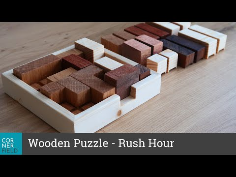 Wooden Puzzle - Fun DIY project as a gift, good brain training