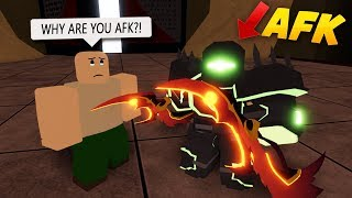 AFK TROLLING IN THE UNDERWORLD! ROBLOX: Dungeon Quest