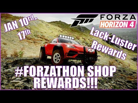 Download Forza Horizon 4 Forzathon Shop Rewards January 10th 17th