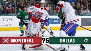 Montreal Canadiens vs Dallas Stars | Season Game 39 | Highlights (4/1/17)
