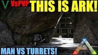 Turret Cave Base Raid! | VsPVP: This Is ARK | ARK: Survival Evolved! Ragnarok Map | S4:EP15