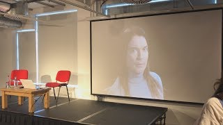 Foyles bookshop's breaktime screening of Rohan Quine's video-books in Novel London LitFest