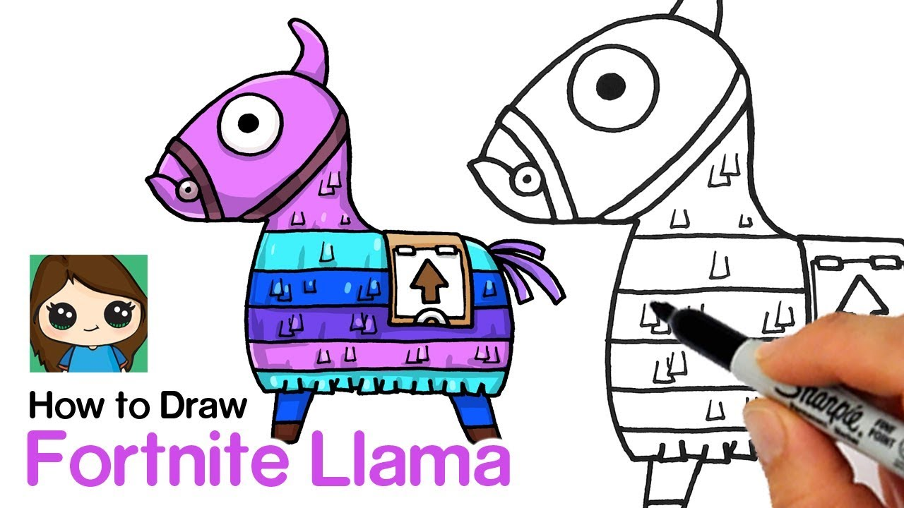 It's just a picture of Bright Fortnite Llama Drawing