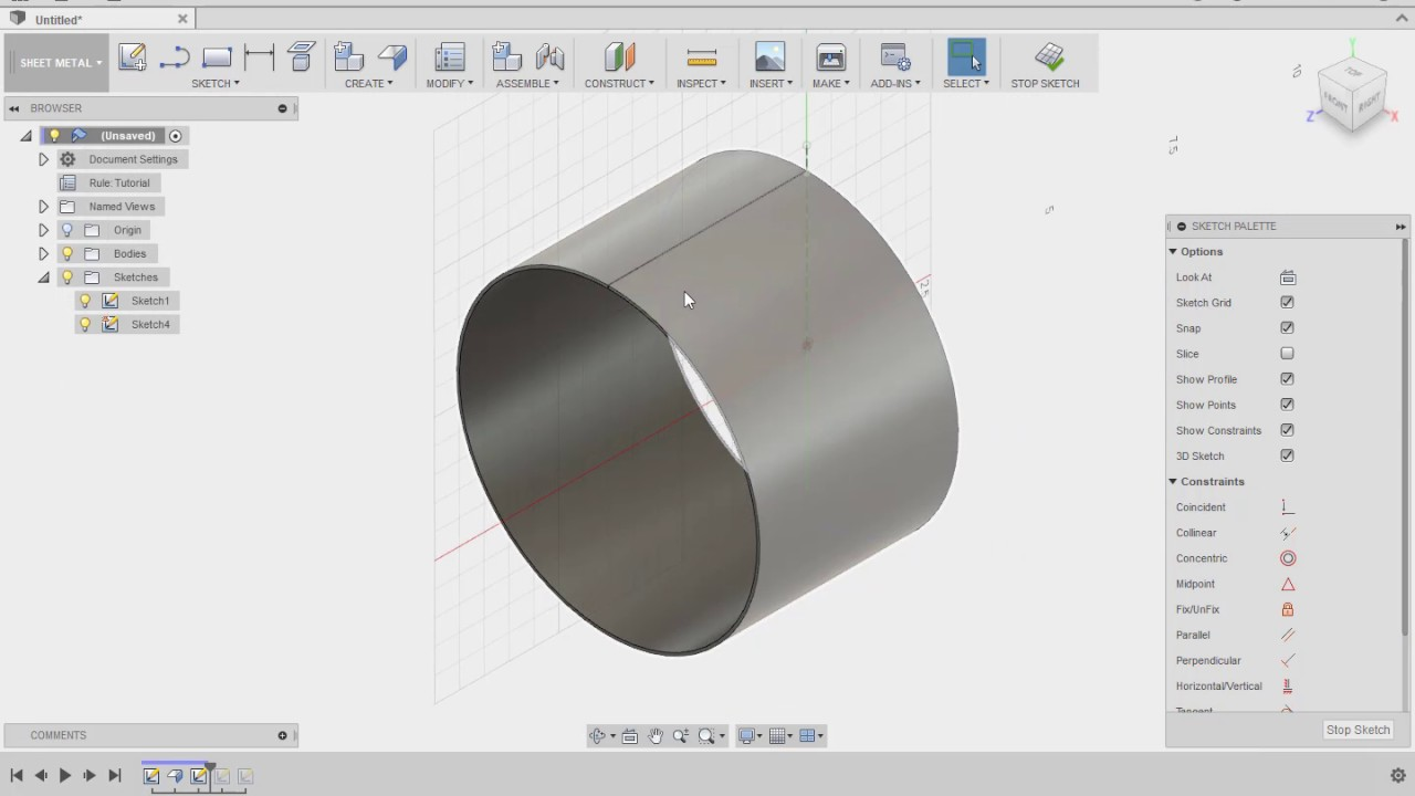 Autodesk 360 Sheet Metal Flat Pattern On Curved Surfaces