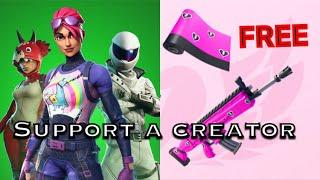 I got a Support a Creator + Free Wrap-Fortnite Battle Royale