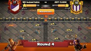 Clan War Leagues - TH12 Attacks - Clash Of Clans - Round 4 (Season 2)