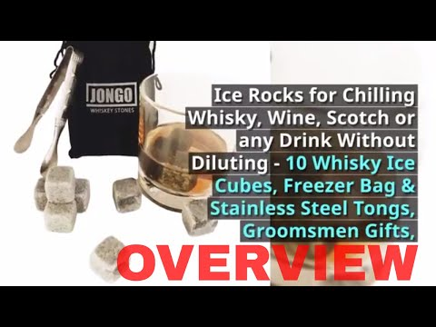 Groomsmen Gifts - Whiskey Stones by JONGO | Ice Rocks for Chilling Whisky