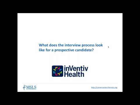 Medical Science Liaison Job Interview – Inventiv Health