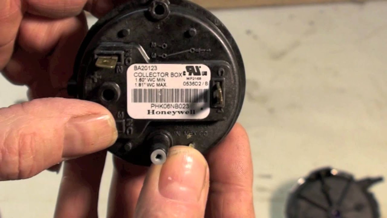 How gas furnace pressure switches work - YouTube