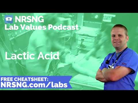 Lactic Acid Nursing Considerations, Normal Range, Nursing Care, Lab Values Nursing