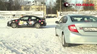 Тест-драйв Honda Civic 4D и Mazda3