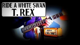 MARC BOLAN - T REX - RIDE A WHITE SWAN - GUITAR BREAKDOWN/LESSON/HOW TO PLAY - INC BLUES FINGER PICK
