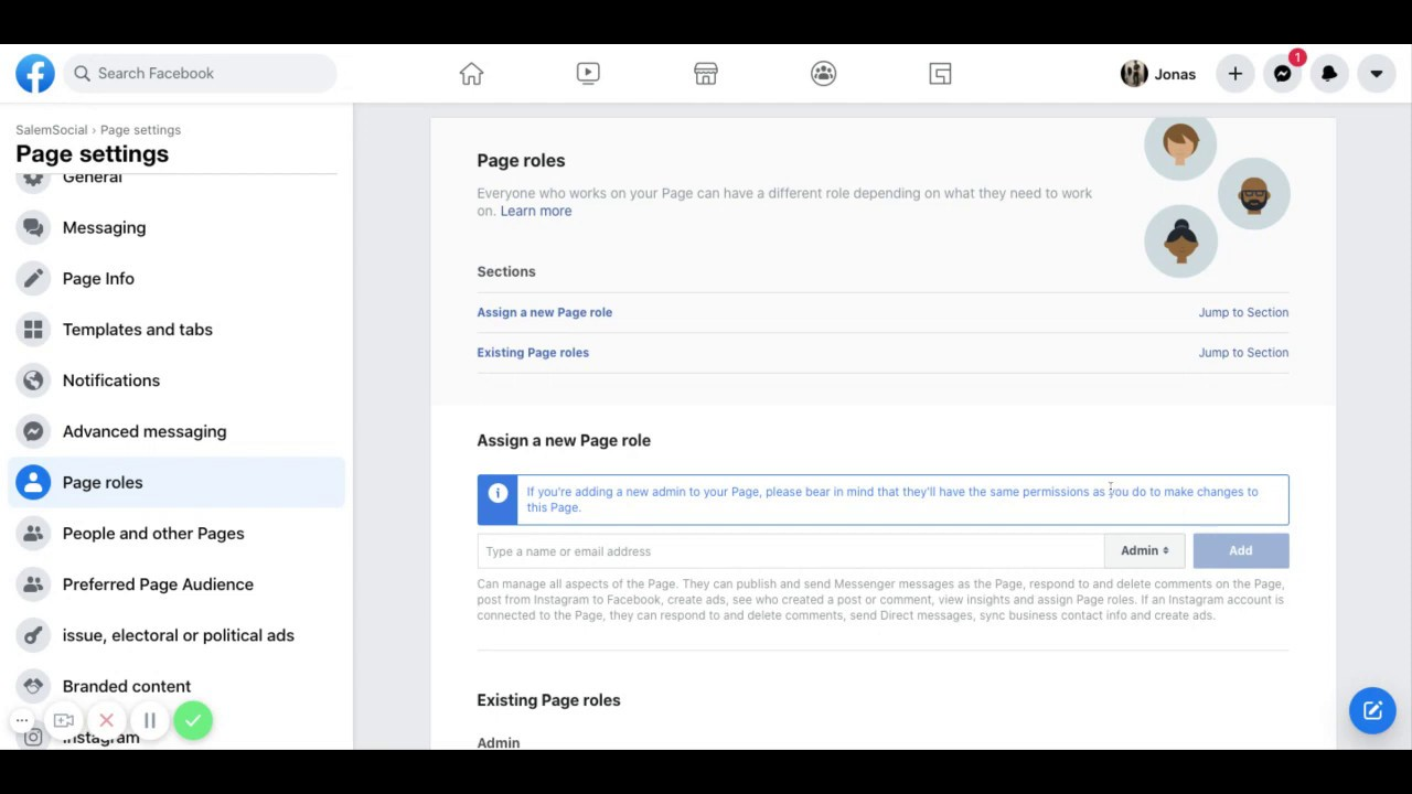 How To Add Admin To Your Business Facebook Page - YouTube