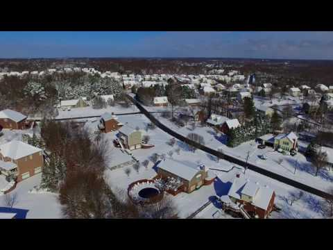 Snowy Drone Flight over Clemmons, NC