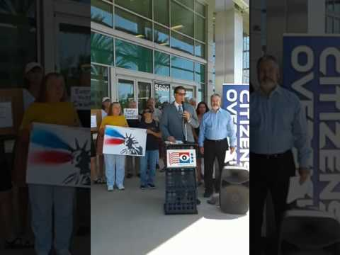 Citizens Oversight Projects was live  7/28 San Diego