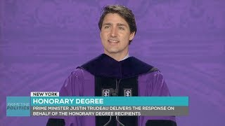 Justin Trudeau commencement speech at Yankee Stadium for the NYU Class of 2018