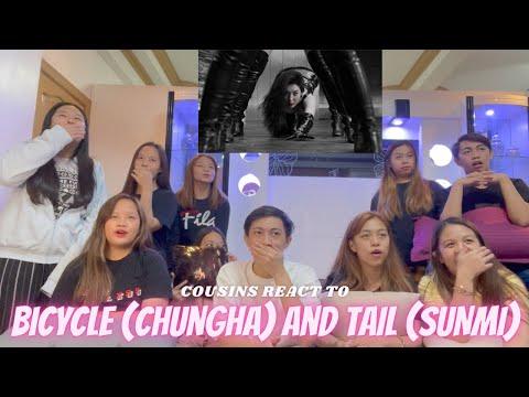 COUSINS REACT TO CHUNG HA 'Bicycle' and SUNMI - 꼬리(TAIL) MV