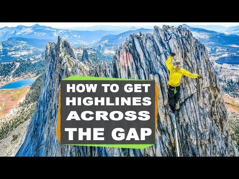 How to get the highline across the gap