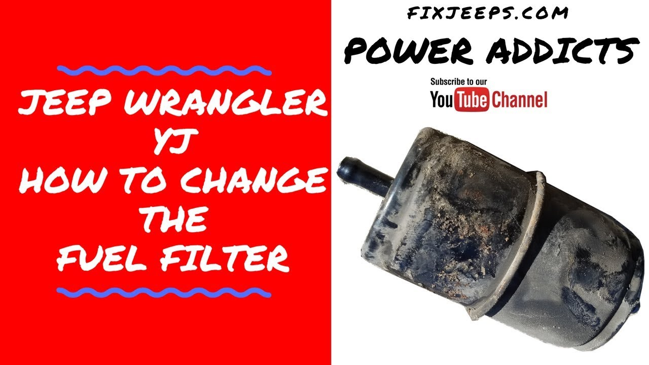 1998 jeep wrangler fuel filter 99 jeep wrangler fuel filter location jeep wrangler yj - change that fuel filter - youtube