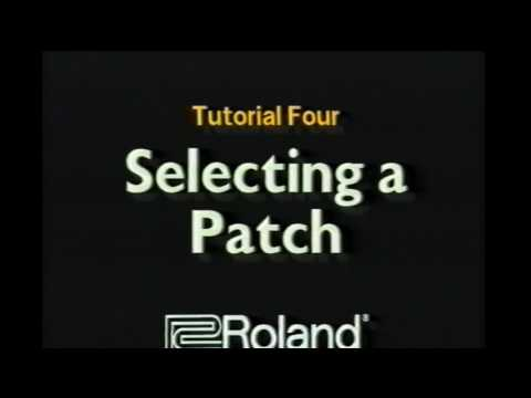 Roland JV 1080 Video Manual
