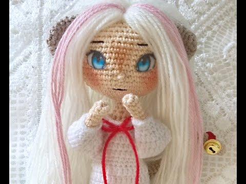 Amigurumi Doll Anime : Fabric anime eyes for amigurumi and dolls youtube